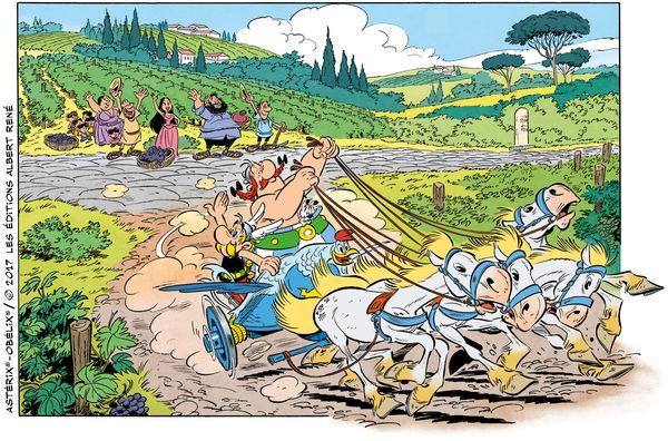 Ein Einblick in das Asterix-Album Nr. 37, das im Oktober erscheint. © Les Editions Albert René/Uderzo-Goscinny