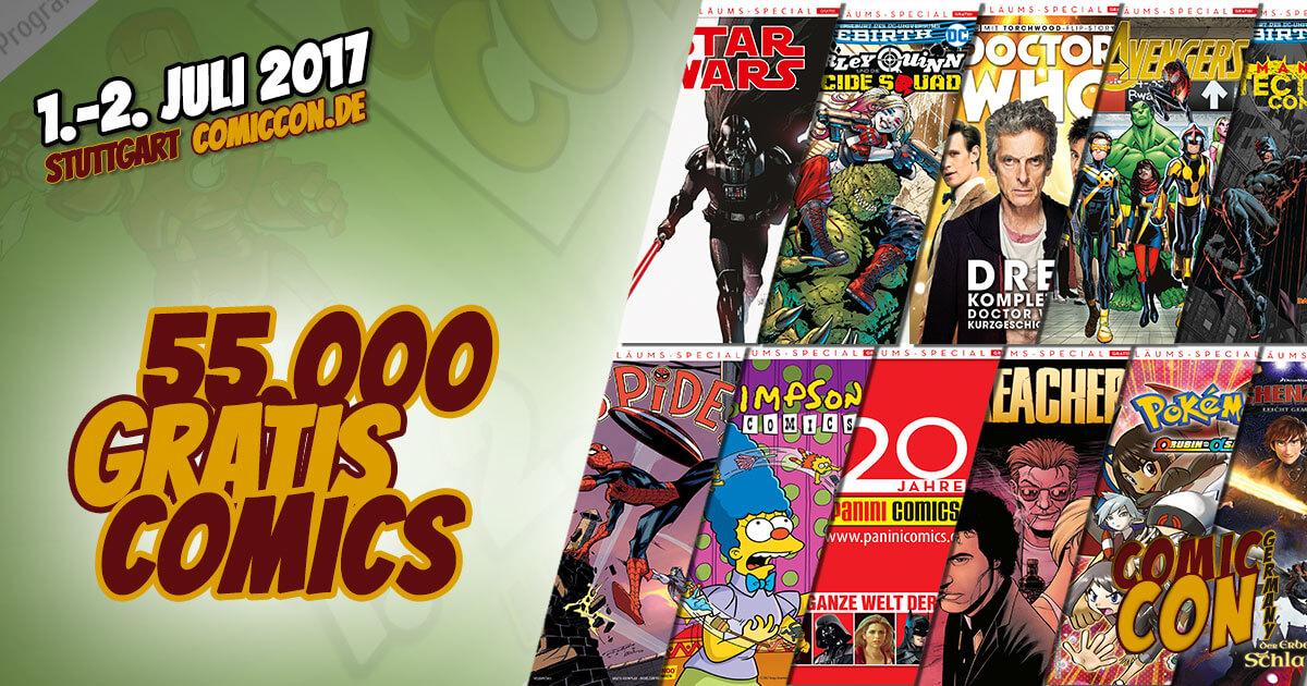 Verlag Panini verteilt 55.000 Gratis-Comics auf der Comic Con Germany 2017 in Stuttgart. Bild: FedCon GmbH