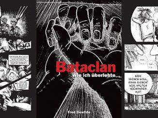 Der Augenzeugenbericht von Fred Dewilde, der das Attentat auf den Pariser Musik-Club überlebte, in einer beklemmend intensiven Comic-Dokumentation. Bild: Panini Comics