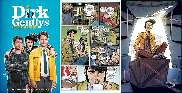 Douglas Adams' Kult-Detektiv Dirk Gently ermittelt im Comic und auf Netflix! Bild: Panini Comics