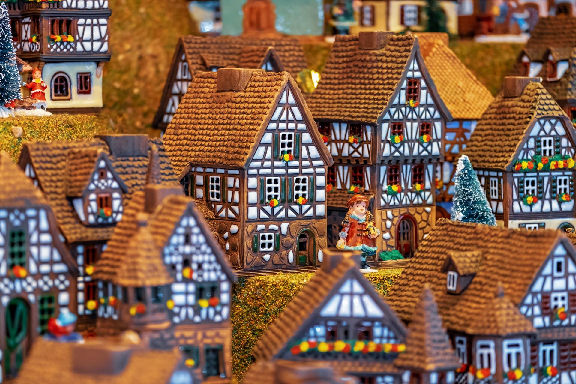 Weihnachtliche Stadt