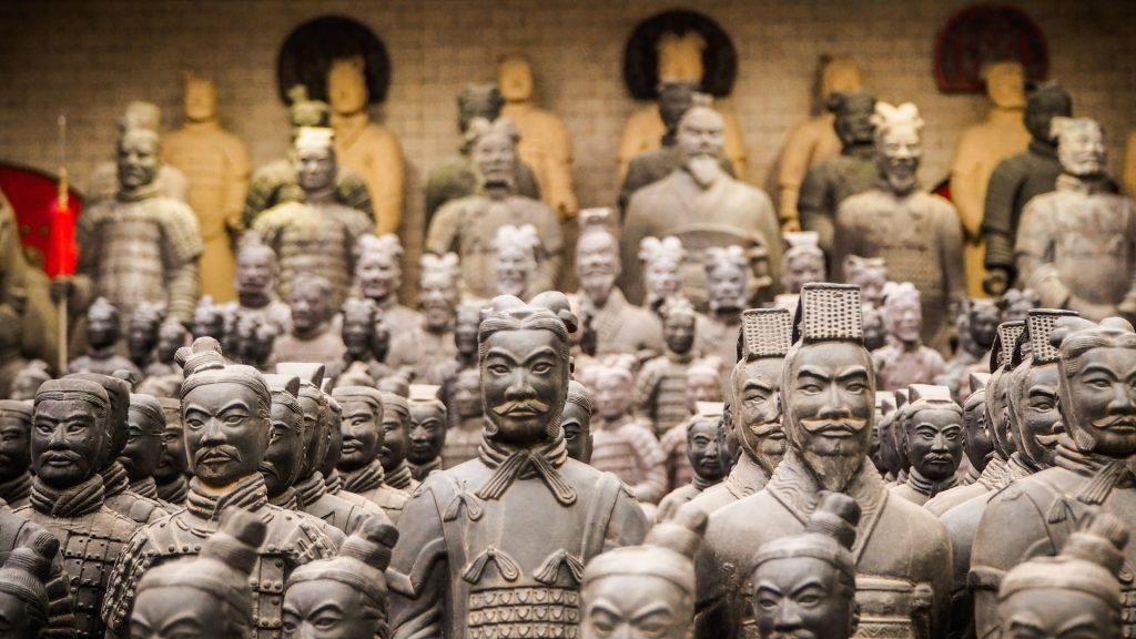 Die tönerne Armee des Kaisers von China.